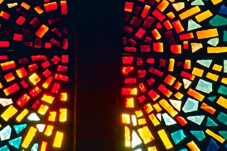 Stained glass window, Mesa Baptist Church, Mes...