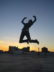victory jump, aka The X!