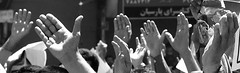 Friday pray (pooyan) Tags: pooyantabatabaei pnvp iran 2004 fridaypray bw peopleinthenews people hands poletic news