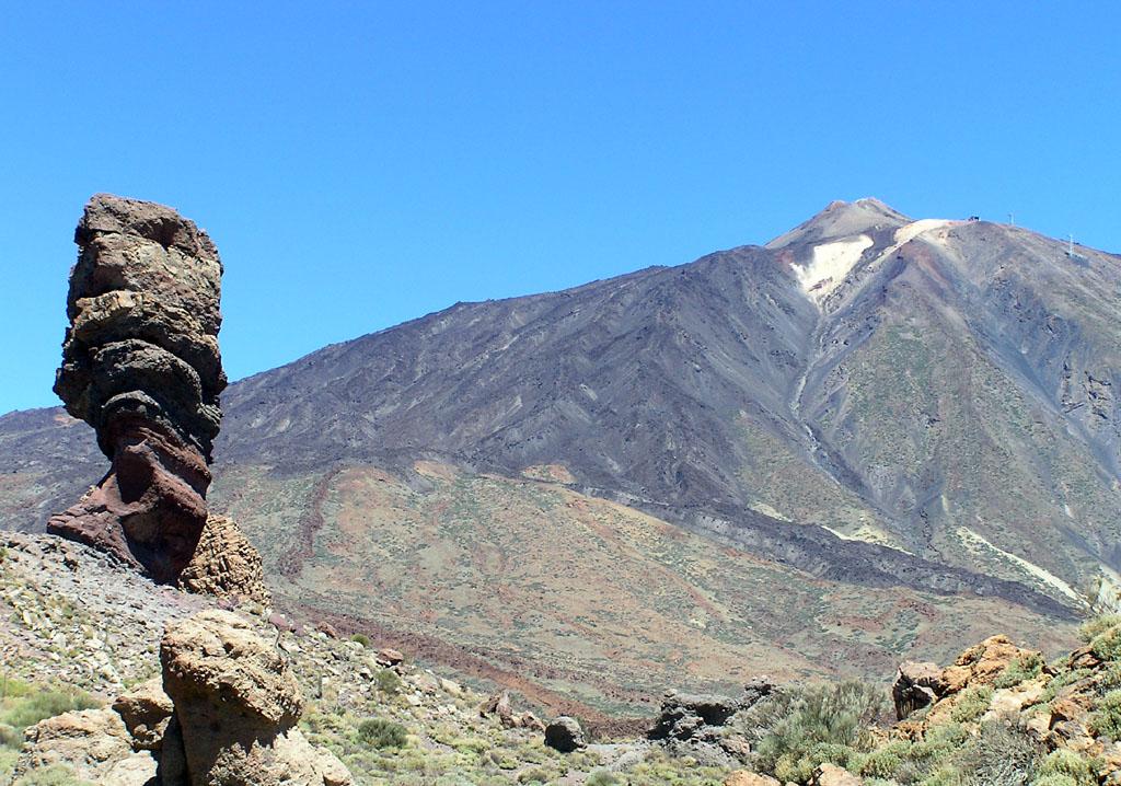 Photo des Canaries n°5. La montagne du Teide vue depuis la base du cratère