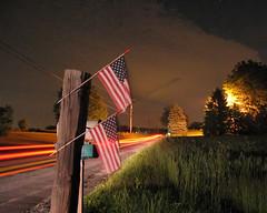 A Patriotic Night (Nirvanart) Tags: light streaks flags night abstract
