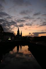 Sunset on Finnsbar's church (ole) Tags: ireland sunset sky church river europe cork beamish lee apair finnsbar explored 2pair