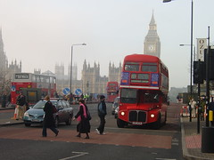 December 9 (29) last day of routemasters (togetherthroughlife) Tags: 2005 bus december routemaster westminsterbridge 159 aec lds402a rm1145