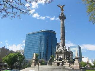 American Express en Torre del Angel), Angel de la Independencia, Mexico City