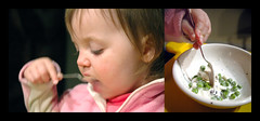 latest taste sensation (toyfoto) Tags: toddler diptych icecream peas babyofmine 23months almosttwo weirdfoodcombinations
