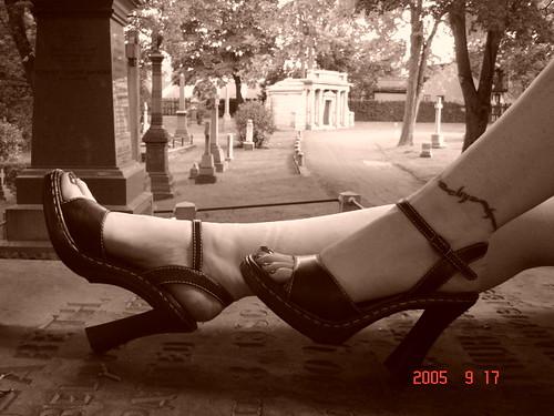 tattoo. toes. tomb. tombstone