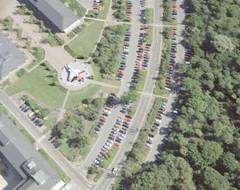 Buccaneer Jet (Kaptain Kobold) Tags: uk england plane office satellite jet hampshire aerialphoto carpark googleearth farnborough buccaneer kaptainkobold
