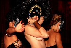 feathery dancer (flybutter) Tags: nyc party cake feathers topless masquerade gypsytearoom gogodancers 222v2f alexisscherl flybutterphoto flybutter cakenyc httpwwwflickrcomgroupsmasked