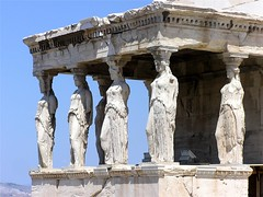 Caryatids, Erectheion, Acropolis, Athens, Greece (allykaym) Tags: greece acropolis athens europe architecture ruins caryatids