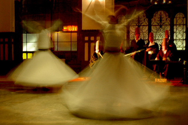 Blurring dervishes