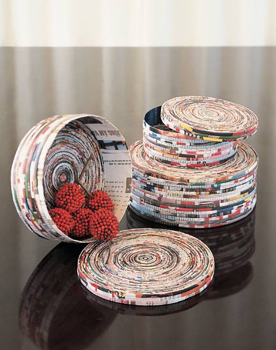 Recycled crafts:  recycled magazine