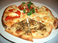 Haloumi Cheese, Zaatar & Tomato Pizzas by avlxyz