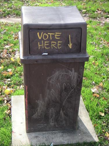 Não jogue seu voto no lixo!