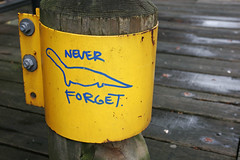 Never Forget (Bhlubarber) Tags: yellow dino tag graf 300views 200views guessed neverforget guesswherevancouver davidniddrie pointsamd