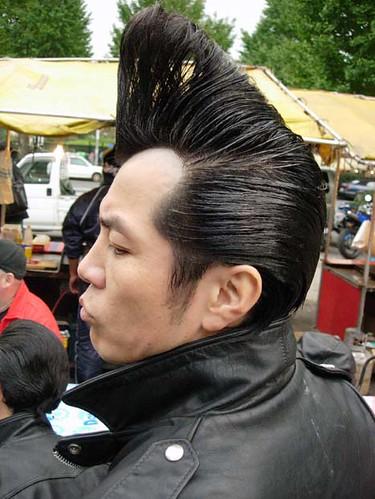 rockabilly hairstyle in yoyogi park tokyo