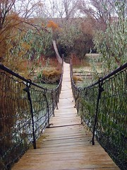 Suspension footbridge near Bluff, Utah (Creativity+ Timothy K Hamilton) Tags: bridge river landscape utah suspension footbridge sanjuan riverbank suspensionbridge bluff sanjuanriver 1500v60f 1000v40f 500f20v timothykhamilton creativityplus sav5del10