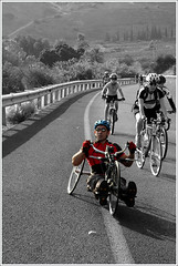 His Own World (PsychoJr) Tags: israel kinneret bicycle cutout lookatme topv111 great1 top20sports notpicked