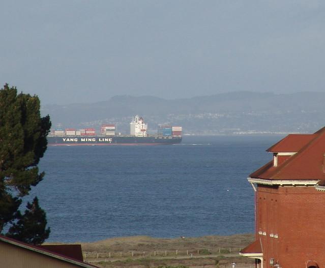 Trade ships leaving