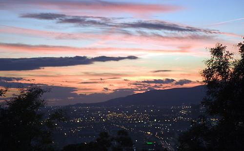Montjuic sunset, Barcelona