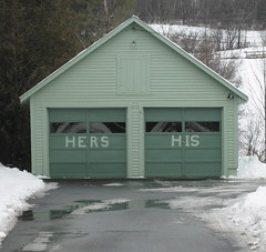His and Hers Garages