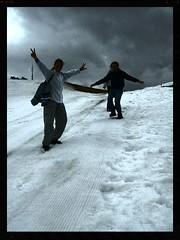 Por la pista de esqui (Quemando Chirucas) Tags: nuria queralbs pedrises rutasripolles