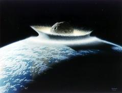 小行星撞擊地球想象圖