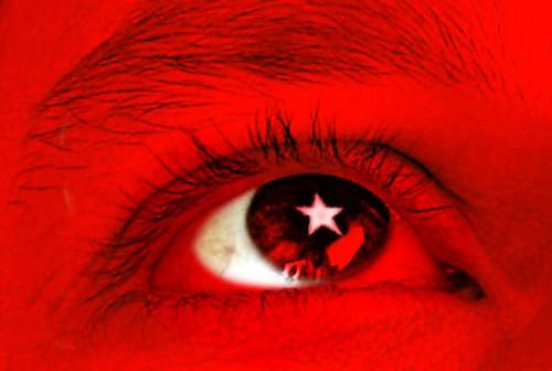 Türkei Flagge Auge
