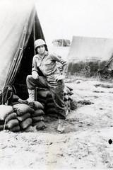 108 Anzio - May 1944 (Paul-W) Tags: soldier army war europe wwii helmet tent worldwarii 1944 sandbags usarmy anzio