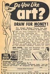 Do You Like Art? (dogwelder) Tags: art magazine simpsons september advertisement moe zurbulon6 1959 zurbulon gatturphy lausd mechanixillustrated beanartist washingtonschoolofart referencepic