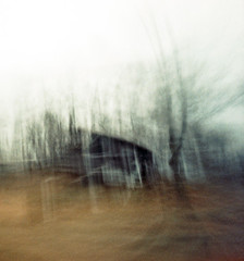 (nicolai_g) Tags: house color building tree film blurry woods 40mm grainy spacetime