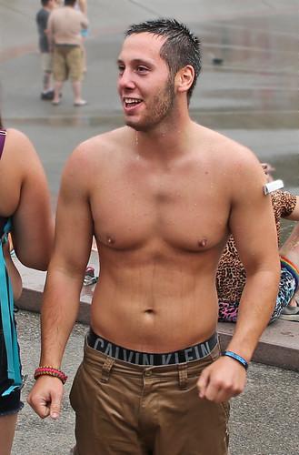 Average guy shirtless