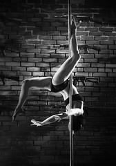 Poledancer (MirkoJeremic) Tags: white black hot girl bricks dancer pole poledance