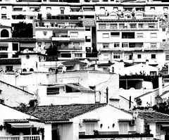 Black and White Benalmadena Pueblo (Gilli8888) Tags: windows architecture buildings spain doors rooftops highcontrast costadelsol benalmadena benalmadenapueblo