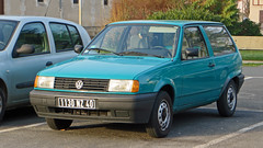 Morcenx, Landes - France (Mic V.) Tags: france car station volkswagen wagon break estate mark turquoise voiture ii german 1991 40 polo landes aquitaine 40110 86c morcenx mk2f 1130nz40