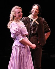 """Brandi Burkhardt as Laurey and Jeremiah James as Curly in the 2010 Music Circus production of """"Oklahoma!"""" at the Wells Fargo Pavilion July 27-August 1.  Photo by Charr Crail."""