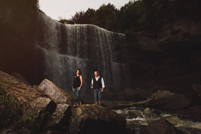 Julie & Nathanael // Waterfall Engagement // Hamilton, Ontario