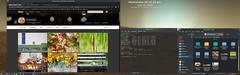 KDE Plasma 5 Dual Display Desktop - Apps (Orbmiser) Tags: desktop mars landscape twilight kde linux opensource manjaro dualdisplays plasma5 netrunnerrolling