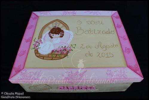"""Caixa grande de batizado """"Flor de Lis"""""""