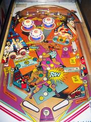 TKO (scottamus) Tags: game art design artwork graphics arcade machine pinball 1979 tko gottlieb playfield