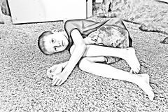 Boy Lying Down (graeme.hyslop) Tags: photoshop photoart photomanipulated