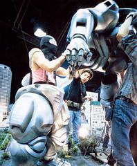 Putting on the MechaGodzilla costume in Godzilla vs. Mechagodzilla II (1993) (Tom Simpson) Tags: film costume godzilla 1993 behindthescenes 1990s kaiju mechagodzilla godzillavsmechagodzilla godzillavsmechagodzillaii
