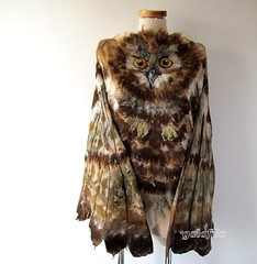 Nuno felted shawl - Owl wings (GalaFilc) Tags: scarf wings felting owl nunofelting owlshawl