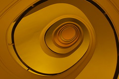 Orange bowl (Elbmaedchen) Tags: staircase treppenauge spirale roundandround orange curves