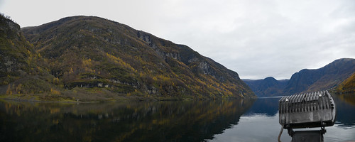 Panorama of Nærøyfjord - The world's most beautiful fjord