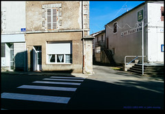 161022-1092-XM1.jpg (hopeless128) Tags: france sky eurotrip 2016 zebracrossing building champagnemouton nouvelleaquitaine fr