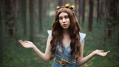 becoming (Maria Nenenko) Tags: idea concept conceptual marinino marininoart fineart art portrait surgut russia forest nature hands face crown wreath cinematic effect life existance melancholy girl woman beauty beautiful longhair fairytale tale story storytelling jesus best bible blood pic picture seies conceptphotos