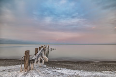 Fifty Point Pier Sunset (angie_1964) Tags: sunset fiftypoint 50point pier grimsby ontario sky clouds lakeontario water nature seascape landscape ice snow winter explore