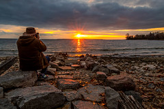 Snapping the Snapper (Anvilcloud) Tags: kingston lakeontario sunset brian