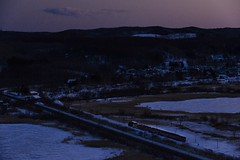 日没を行く (MomoRingo58) Tags: 鉄道写真 鉄道 sl冬の湿原号 釧網本線 蒸気機関車 c11 de10 train rail railway railways sl steamlocomotive
