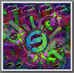 LSD - A Dream with the fishes (chazart7777) Tags: redandblue purple fish fantasy lsd dream surreal hippie photomanipulation imagemanipulation digitalart acidtrip metaphor gimp photoshop crazy insane strange delusion